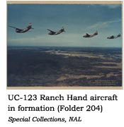UC-123 Ranch Hand aircraft in formation
