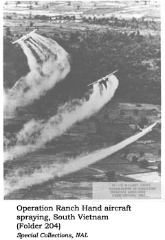 Operation Ranch Hand aircraft spraying, South Vietnam