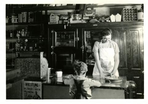 Electric Ice Cream Cabinet in Remote Country Store, circa 1930s