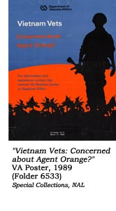 """Vietnam Vets: Concerned about Agent Orange?"" VA Poster, 1989"